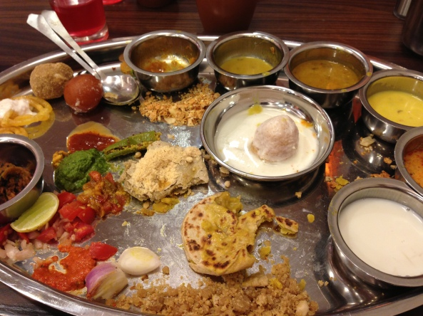 Thali meal from Rajdhani , New Delhi